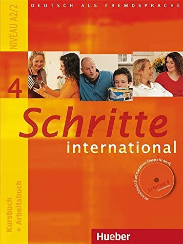 9783190018543: Schritte International: Kursbuch Und Arbeitsbuch 4 MIT CD Zum Arbeitsbuch