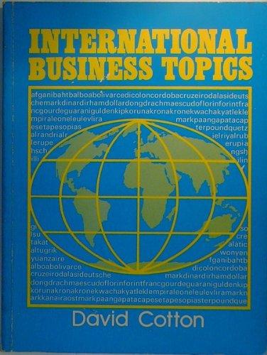 9783190023103: International Business Topics