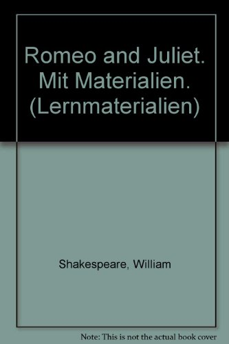 9783190025572: Romeo and Juliet. Mit Materialien. (Lernmaterialien)