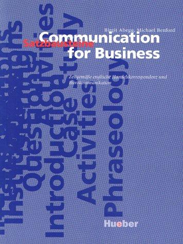 9783190026173: Communication for Business. Kurspaket: Zeitgemäße englische Handelskorrespondenz und Bürokommunikation