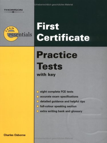 9783190029624: Exam Essentials First Certificate Practice Tests
