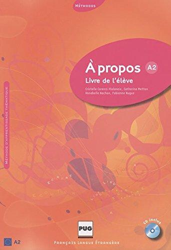 9783190033553: À propos A2. Livre de l'élève: Livre de l'élève mit Audio-CD