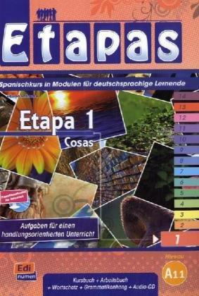 9783190043095: Etapa 1 Cosas: Spanischkurs in Modulen für deutschsprachige Lernende / Kursbuch+Arbeitsbuch+Wortschatz+Grammatikanhang+Audio-CD