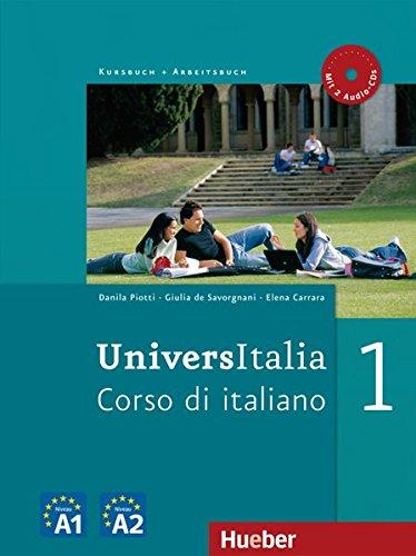 9783190054633: UniversItalia 1. Kurs- und Arbeitsbuch mit 2 integrierten Audio-CDs: Corso di italiano