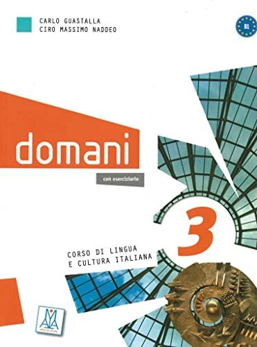 9783190054732: domani 3. Kurs- und Arbeitsbuch mit DVD-ROM und Audio-CD