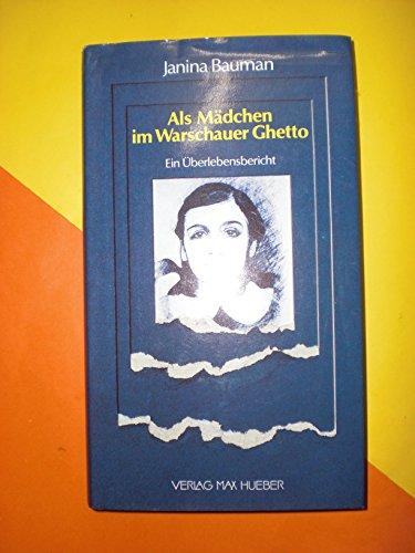 9783190055104: Als Mädchen im Warschauer Ghetto. Ein Ãœberlebensbericht
