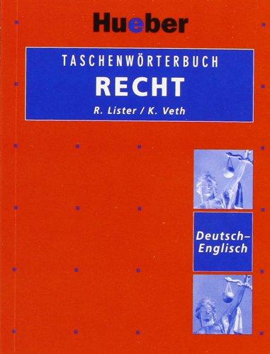 9783190062775: Taschenwörterbuch Recht. Deutsch - Englisch