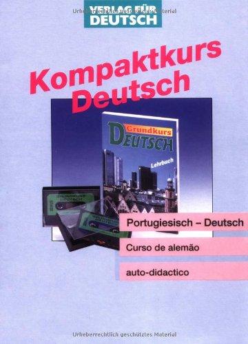 9783190073689: Grundkurs Deutsch, Lehrbuch und grammatisches Arbeitsbuch, m. 2 Cassetten, Portugiesische Ausgabe, m. Leitfaden u. Glossar