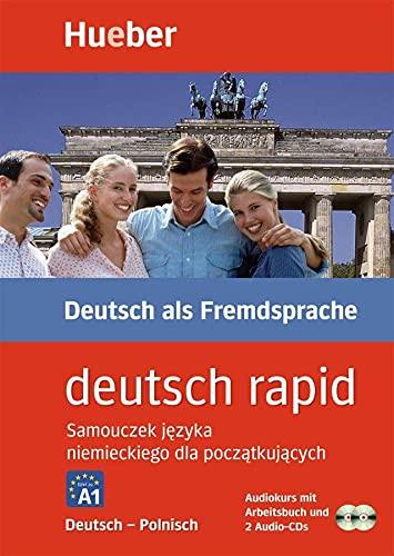 9783190074679: Deutsch rapid, 2 Cassetten und 2 Audio-CDs m. Begleitbuch, Deutsch-Polnisch