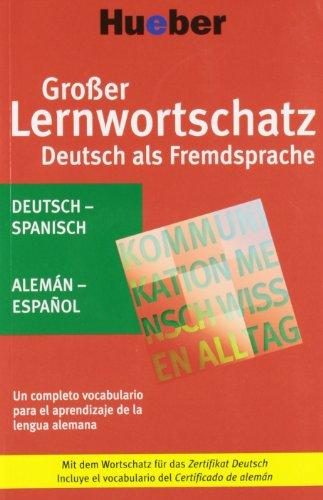 9783190074730: Großer Lernwortschatz Deutsch als Fremdsprache. Deutsch-Spanisch