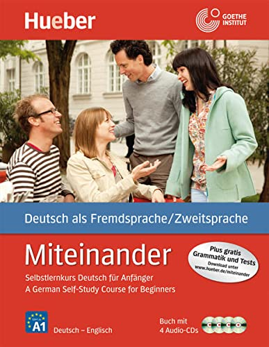 9783190095094: Miteinander: German Self-Study Course for Beginners - Book & 4 Cds (German Edition)