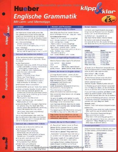 9783190095353: Englische Grammatik klipp & klar: Mit Lern- und Memotipps