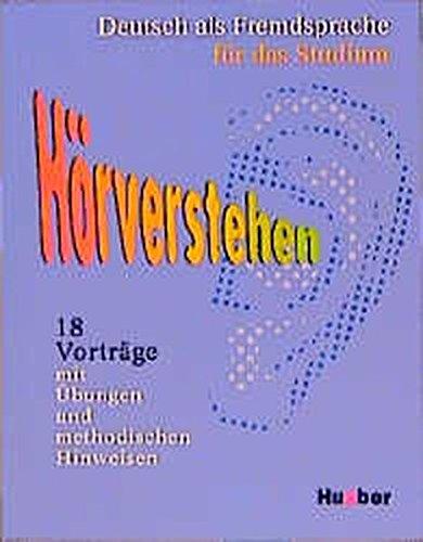 9783190116058: Deutsch als Fremdsprache für das Studium. Hörverstehen: 18 Vorträge mit Übungen und methodischen Hilfen: Begleitbuch