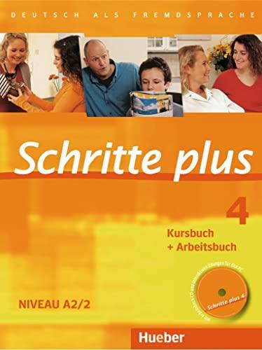 9783190119141: Schritte plus 4. Kursbuch + Arbeitsbuch mit Audio-CD zum Arbeitsbuch: Deutsch als Fremdsprache. Niveau A2/2