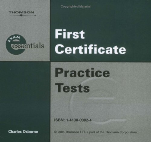 9783190129621: Exam Essentials First Certificate Practice Tests. 3 CDs