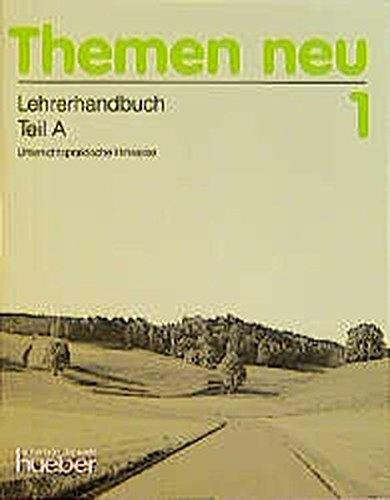 9783190215218: Themen Neu 1. Lehrerhandbuch Teil A