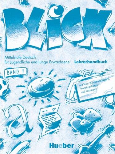 9783190215737: Blick: Lehrerhandbuch 1