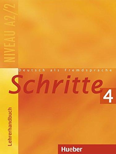 9783190218073: Schritte 4. Lehrerhandbuch: Deutsch als Fremdsprache. Niveau A2/1