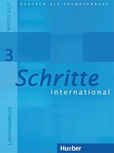 9783190218530: SCHRITTE INTERNATIONAL.3.Lehrerh.(l.prof