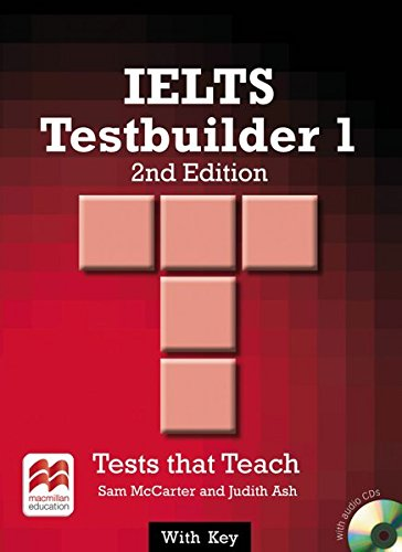 9783190228829: IELTS Testbuilder 01. Student's Book with 2 Audio-CDs (with Key): Tests that Teach