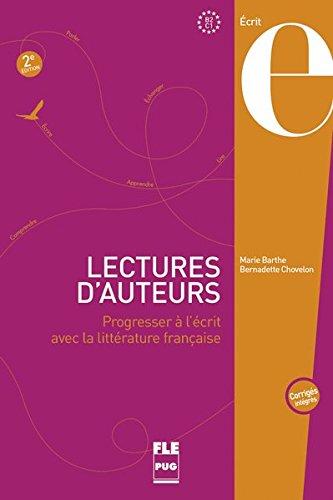 9783190233335: PUG - Français général: Lectures d'auteurs - deuxième édition: Progresser à l'écrit avec la littérature française / Livre de l'élève + corrigés des exercices