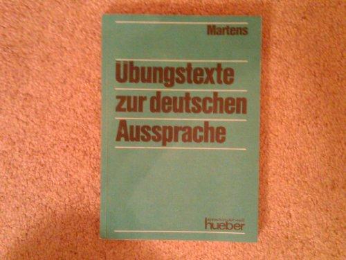 9783190310166: Ãœbungstexte zur Deutschen Aussprache