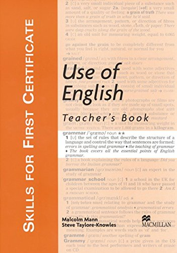Skills for First Certificate Use of English.: Anna Currey