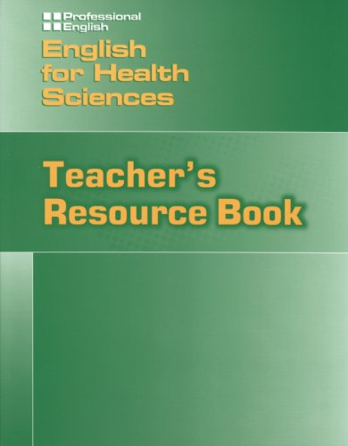 9783190329540: English for Health Sciences. Teacher's Resource Book