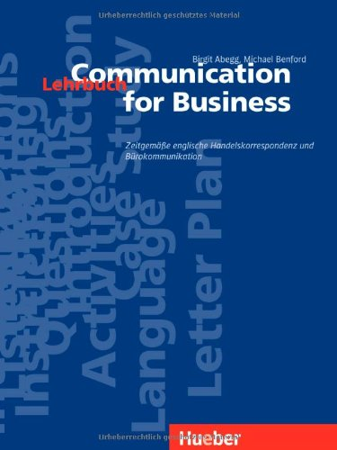 9783190426171: Communication for Business, Lehrbuch