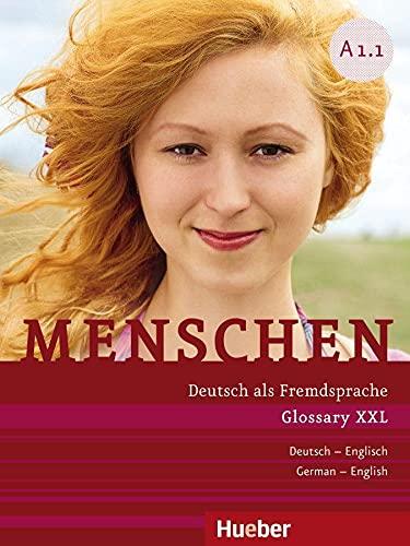 9783190519019: Menschen Sechsbandige Ausgabe: Glossar Xxl A1.1 Englisch (German Edition)