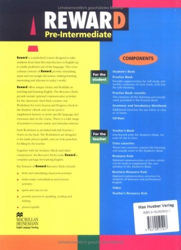 9783190525027: Reward Pre-Intermediate. Resource Pack