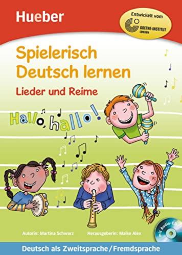 9783190594702: Spielerisch Deutsch Lernen: Lieder Und Reime - Buch & Audio-CD (German Edition)