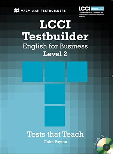 9783190627226: LCCI Testbuilder English for Business. Level 2: Student's Book with Audio-CD
