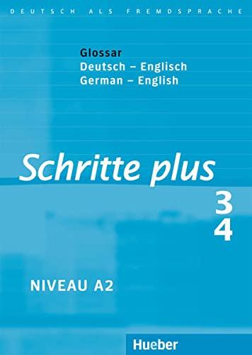 9783190719136: Schritte Plus: Glossare Zu Schritte Plus 3 & 4 - Deutsch / Englisch (German Edition)