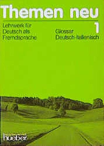 9783190815210: Themen neu, Glossar Deutsch-Italienisch