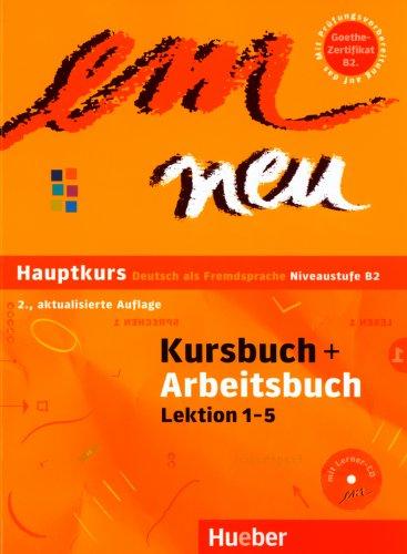 9783190916955: Em Neu Hauptkurs Lektion 1-5 Kurs Und Arbeitsbuch