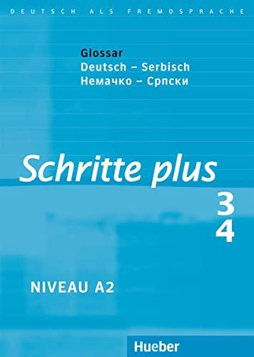 9783191219130: Schritte plus 3 + 4. Glossar Deutsch-Serbisch: Deutsch als Fremdsprache