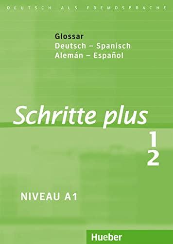 9783191319113: Schritte plus 1+2. Glossar Deutsch-Spanisch - Glosario Alemán-Español