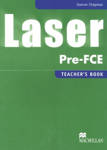 9783191329280: Laser Pre-FCE. Teacher's Notes