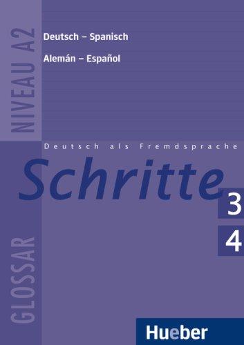9783191418069: Schritte 3 und 4. Glossar Deutsch-Spanisch