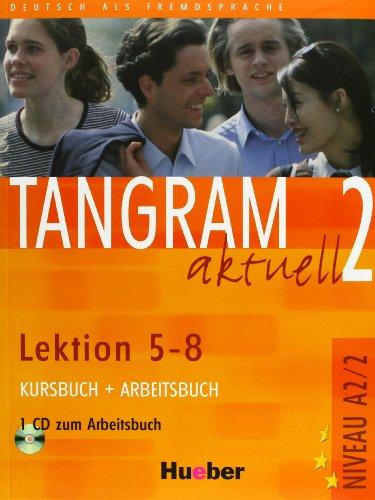 9783192018176: Tangram aktuell A2/2 (Lektion 5-8) Kursbuch+Arbeitsbuch+CD+Glossar