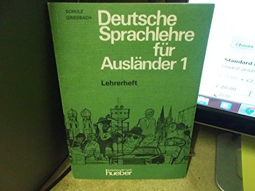9783192210044: Deutsche Sprachlehre Fur Auslander - Two-Volume Edition - Level 1: Lehrerheft 1