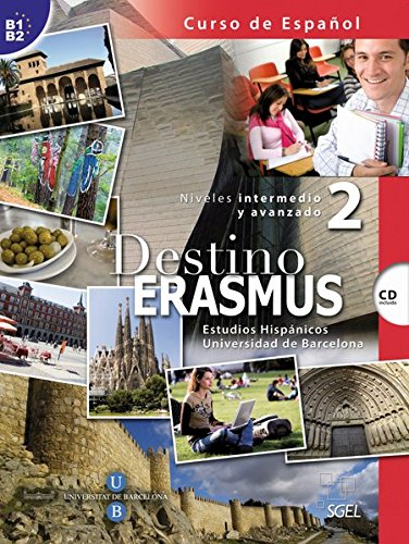 9783192445064: Destino ERASMUS 02. Kursbuch mit Audio-CD