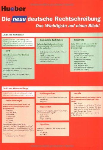 9783192574580: Die neue deutsche Rechtschreibung. Rechtschreibtabelle DIN A3: 600 Beispiele