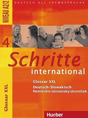 9783194218543: Schritte international 4. Glossar XXL Deutsch-Slowakisch: Deutsch als Fremdsprache - Niveau A2/2
