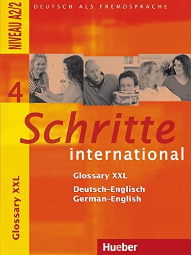 9783194518544: Schritte international 4. Glossary XXL Deutsch-Englisch German-English: Deutsch als Fremdsprache