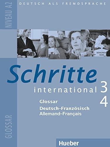 9783194918535: Schritte International: Glossar 3 & 4 - Deutsch - Franzosisch