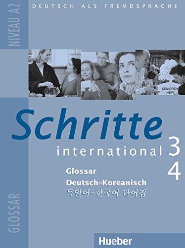 Schritte international 3+4. Niveau A2. Glossar Deutsch-Koreanisch
