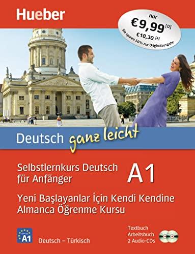 9783195074810: Deutsch ganz leicht A1. Türkisch: Selbstlernkurs Deutsch für Anfänger - Yeni baslayanlar için kendi kendine Almanca ögrenme kursu / Paket