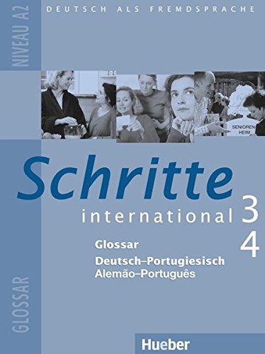 9783195218535: Schritte international 3+4. Niveau A2. Glossar Deutsch - Portugiesisch - Alem�o-Portugu�s: Deutsch als Fremdsprache